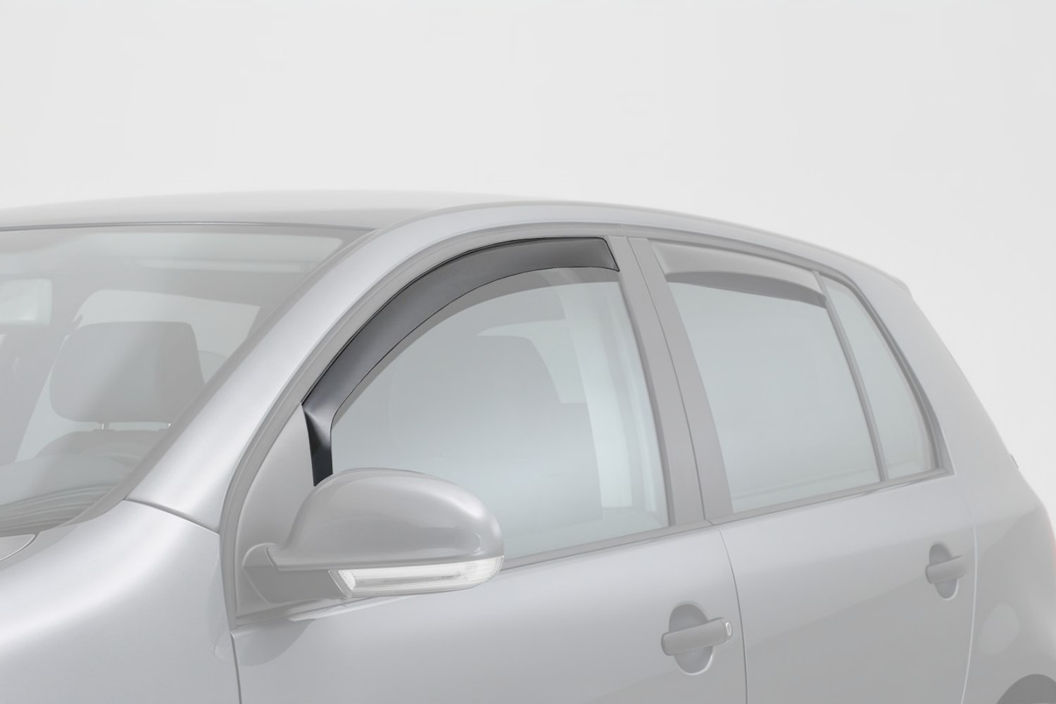 Dodge Durango II 2004-2009 side window deflectors front - dark transparent