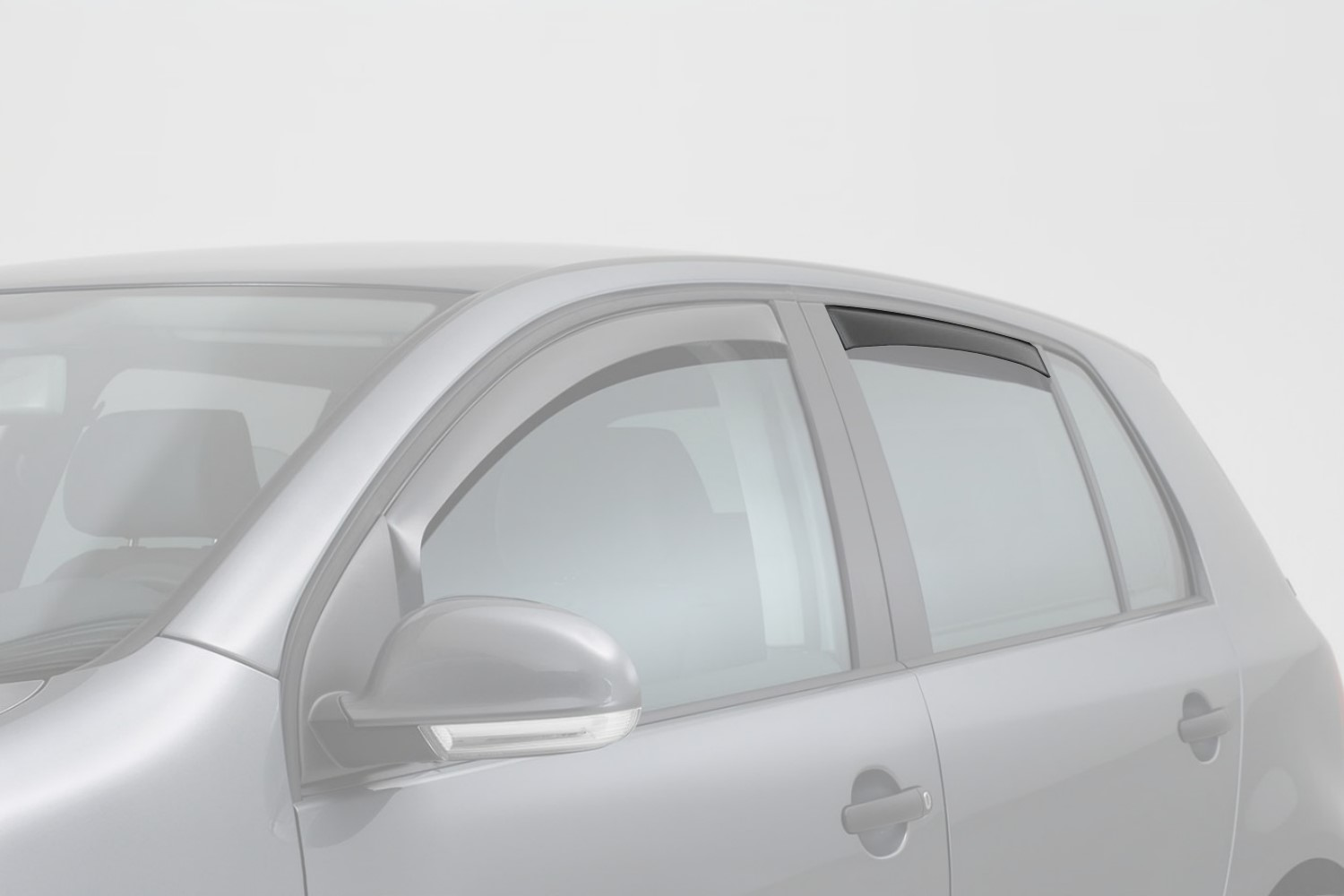 Side window deflectors Toyota Land Cruiser (J200) 2007-present 5-door hatchback rear doors - smoke grey