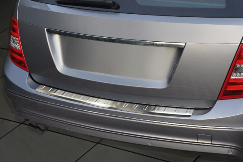 Rear bumper protector Mercedes-Benz C-Class estate (S204) 2011-2014 stainless steel