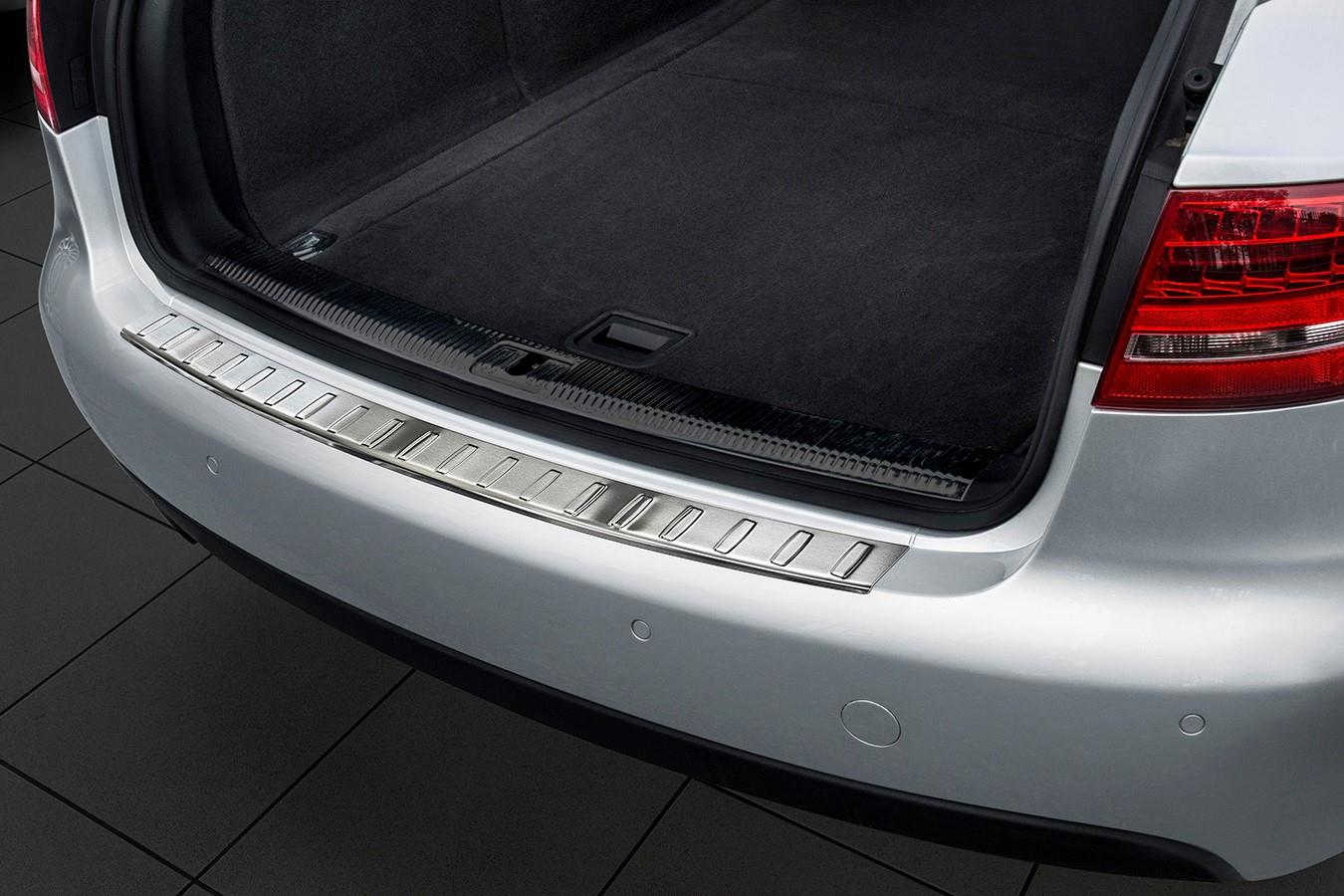 Audi A4 Avant (B8) 2008-2012 rear bumper protector stainless steel (AUD2A4BP) (1)