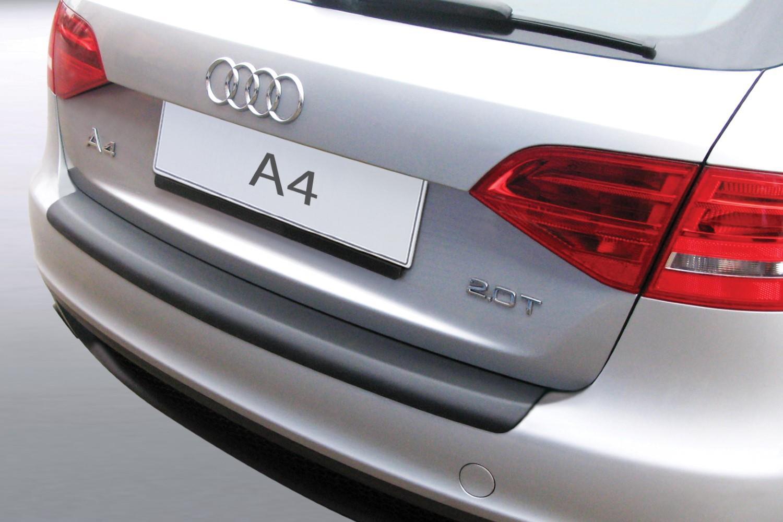 Audi A4 Avant B8 2008 2012 Rear Bumper Protector Abs Matt Black