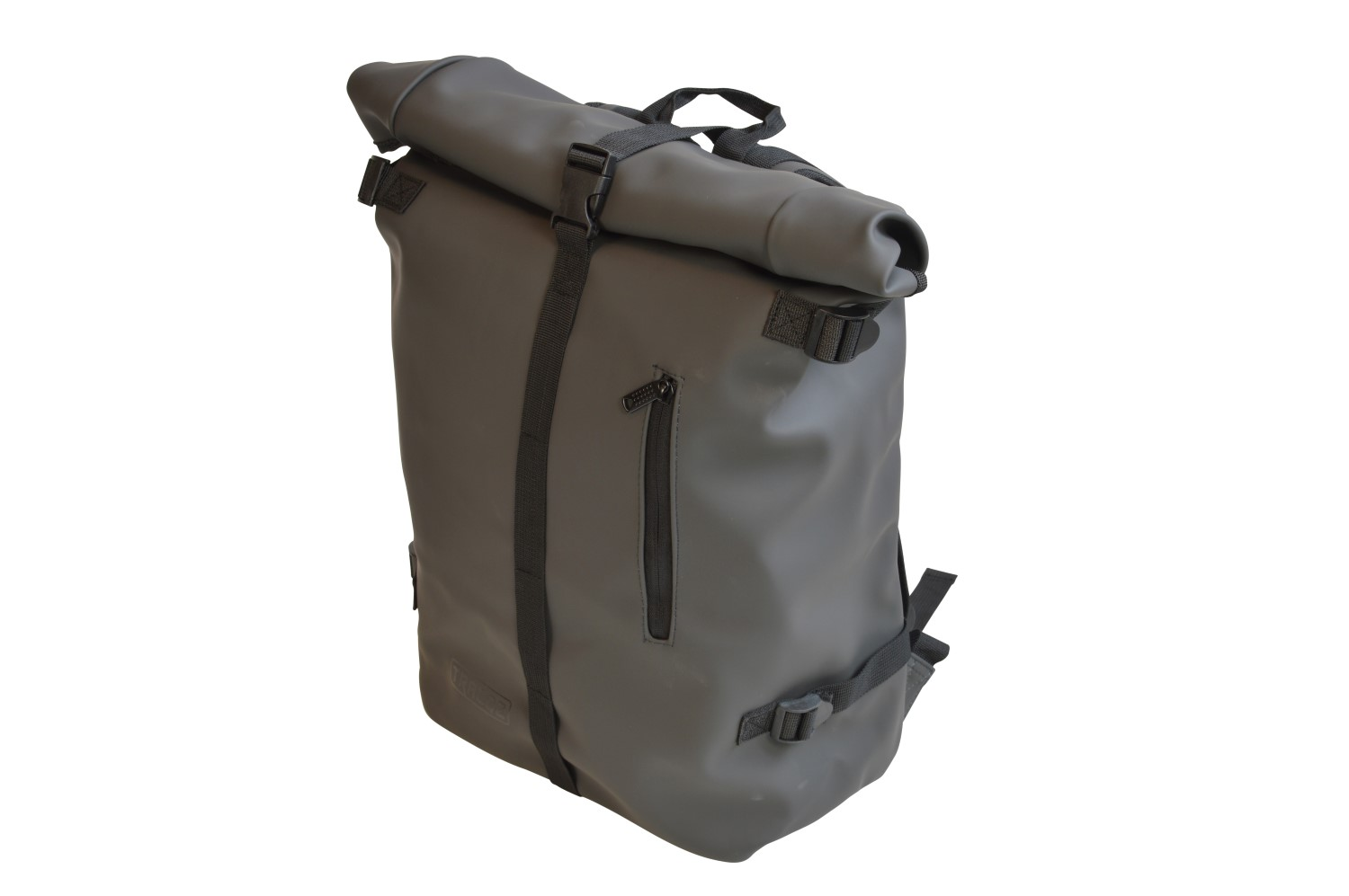 Roll-top laptop backpack