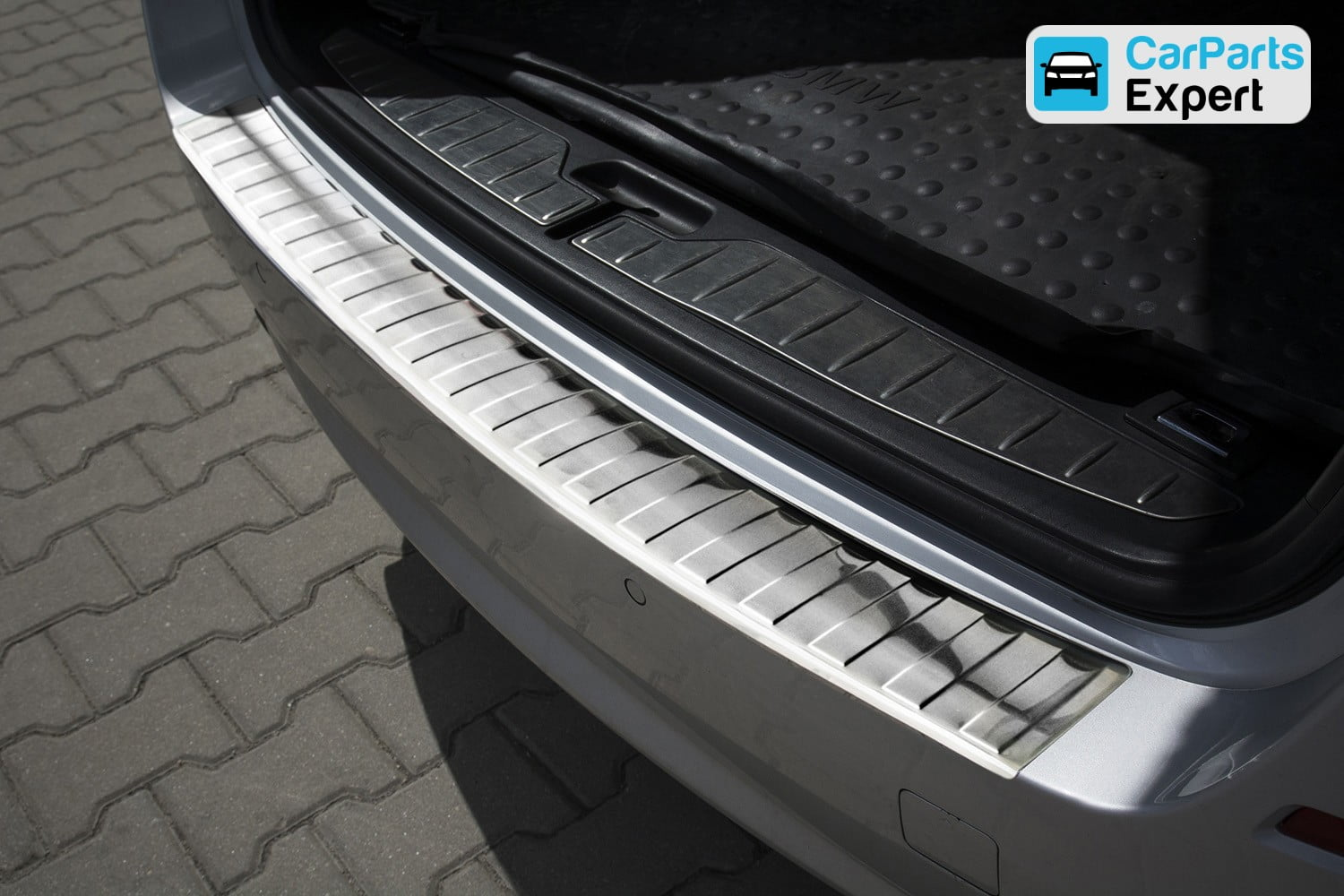 BMW 5 Series Touring (F11) 2010- rear bumper protector stainless steel (BMW45SBP)