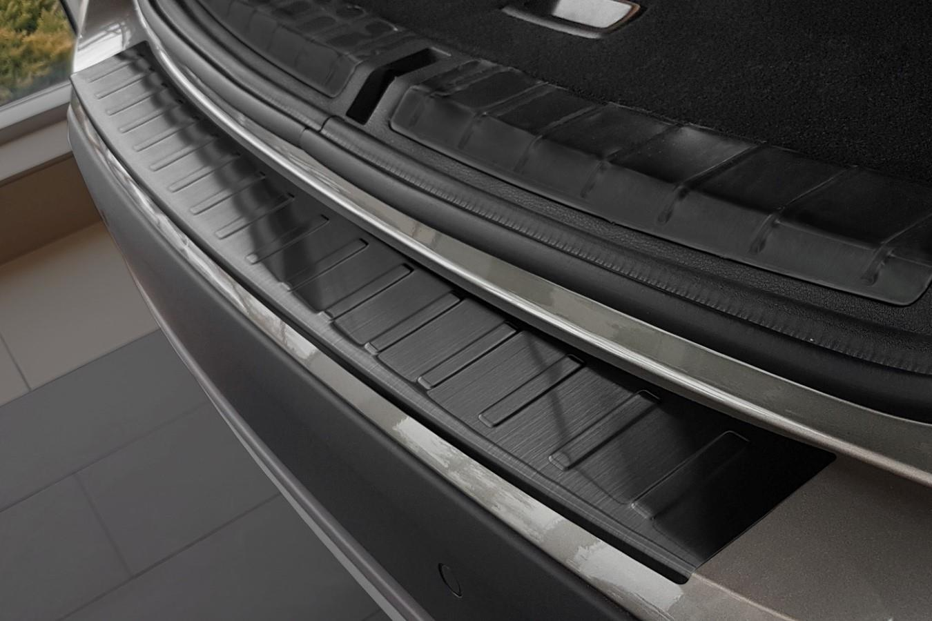 Rear bumper protector BMW X1 (E84) 2012-2015 stainless steel anthracite