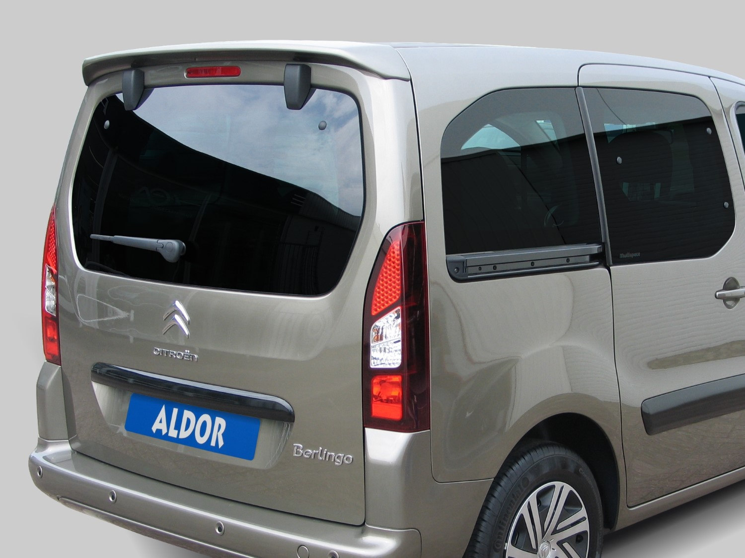 Roof spoiler Citroën Berlingo II (B9) 2008-2018 for car model with tailgate