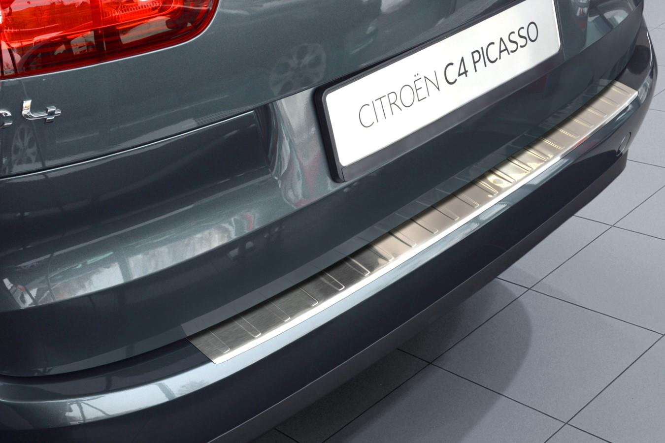 Rear bumper protector Citroën C4 Picasso II - C4 Spacetourer 2013-present stainless steel