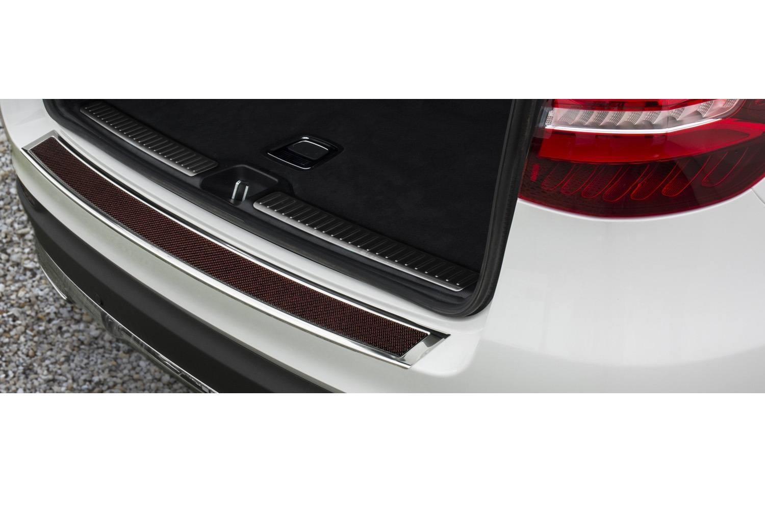 Rear bumper protector Mercedes-Benz Vito - V-Class (W447) 2014-present stainless steel high gloss - carbon