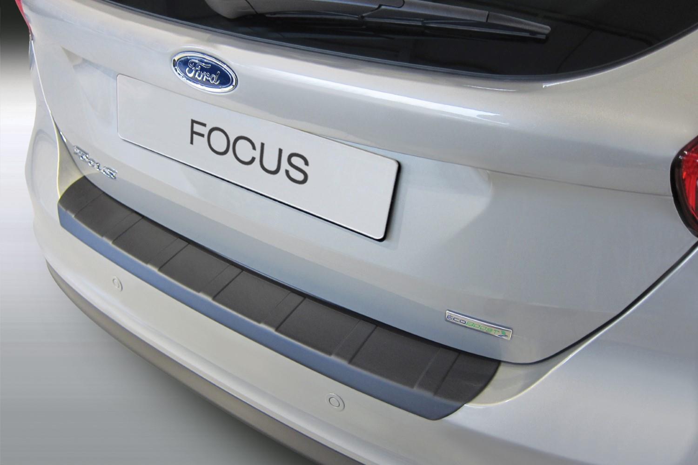 Ford Focus III 2014-2018 5-door hatchback rear bumper protector ABS  (FOR15FOBP)