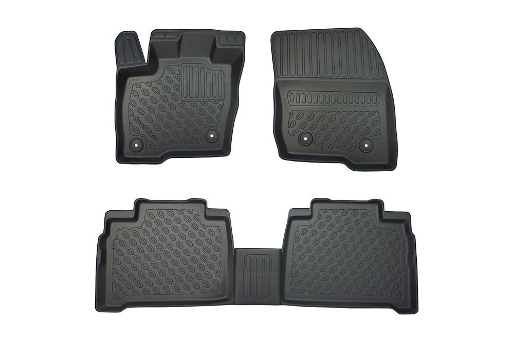 Set tapis de caoutchouc compatible avec Ford B-Max 2012-2015 T profil 4-pi/èces + clips de montage