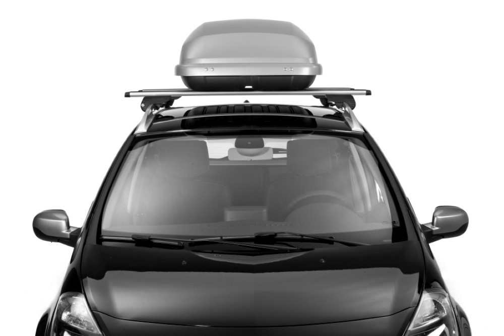 hapro roof boxes hapro roady 350 silver grey roof box. Black Bedroom Furniture Sets. Home Design Ideas