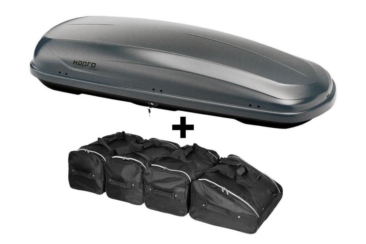 hapro traxer 8 6 titanium coffre de toit avec car. Black Bedroom Furniture Sets. Home Design Ideas