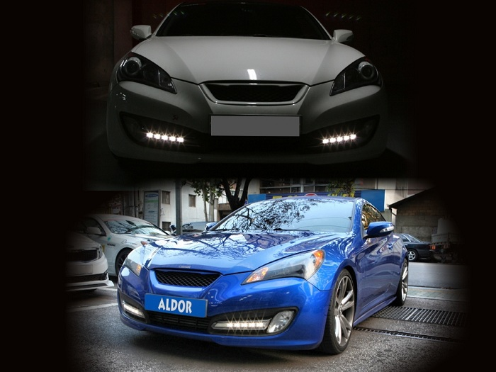 Hyundai Genesis Coupé 2010 2016 LED Day Running Light Set.  Hyundai_Genesis__4f58d091abedd