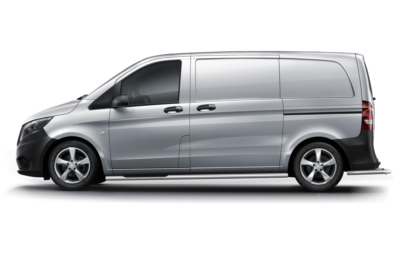 Mercedes-Benz Vito - Viano (W639) 2003-2014 side bars stainless steel  polished 60 mm with 3 steps