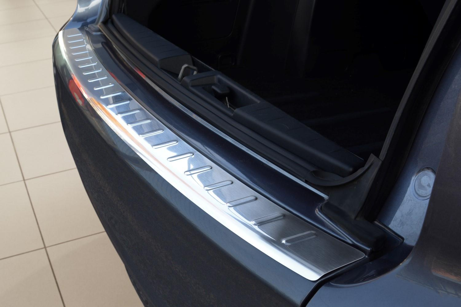 Rear bumper protector Mitsubishi Outlander II 2007-2012 stainless steel