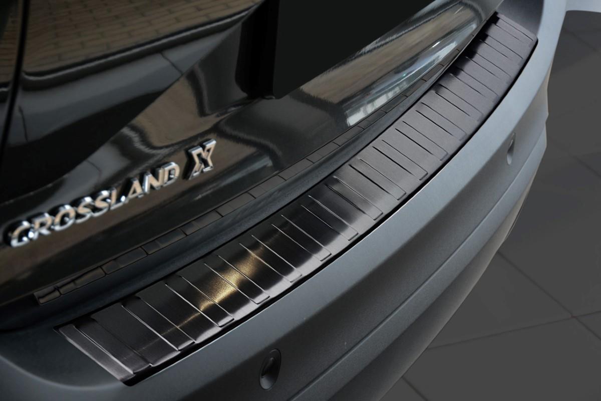 pour Opel//Vauxhall Crossland x 2018/Barres 120/cm Porte-Bagage pour Toit avec Railing Noires Coffre en Aluminium pour Voiture