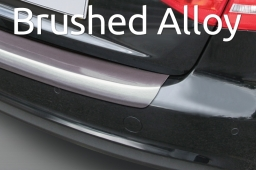 Brushed alloy rear bumper protector ABS