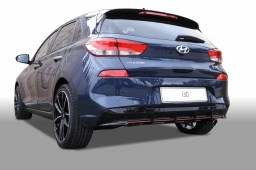 Hyundai i30 (PD) 2017- 5-door rear diffuser + front mask piano black (HYU1I3SPS)