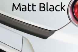 Matt black rear bumper protector ABS