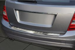 Mercedes-Benz C-Class estate (S204) 2007-2011 rear bumper protector stainless steel