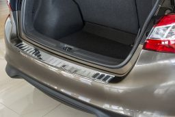 Nissan Pulsar (C13) 2014-> 5-door hatchback rear bumper protector stainless steel