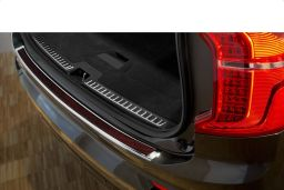 Volvo XC90 II 2015-> rear bumper protector stainless steel high gloss - carbon