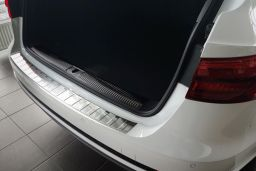Audi A4 Avant (B9) 2015-> rear bumper protector stainless steel (AUD12A4BP) (2)