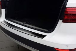 Audi A4 Avant Allroad (B9) 2016-> rear bumper protector stainless steel black (AUD14A4BP) (2)