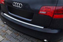 Audi A6 Avant (C6) 2005-2011 rear bumper protector stainless steel (AUD1A6BP) (1)