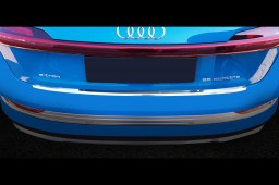 Audi e-tron (GE) 2018-> rear bumper protector stainless steel (AUD1ETBP) (1)
