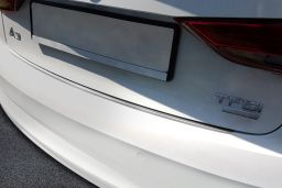 Audi A3 Limousine (8V) 2016-> 4-door saloon rear bumper protector stainless steel (AUD8A3BP) (2)