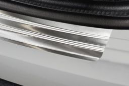 Audi A3 Limousine (8V) 2016-> 4-door saloon rear bumper protector stainless steel (AUD8A3BP) (3)