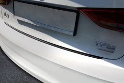 Audi A3 Limousine (8V) 2016-> 4-door saloon rear bumper protector stainless steel black (AUD9A3BP) (2)