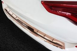 BMW X3 (G01) 2017-> rear bumper protector stainless steel high gloss copper - carbon (BMW17X3BP) (3)