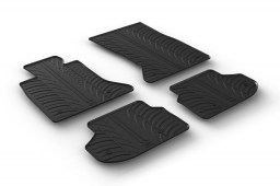 BMW 5 Series (F10) 2010-2017 4-door saloon car mats set anti-slip Rubbasol rubber (BMW25SFR)