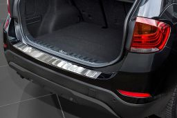 BMW X1 (E84) 2012-2015 rear bumper protector stainless steel (BMW2X1BP) (1)