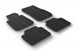 BMW 3 Series (F30) 2012-present 4-door saloon car mats set anti-slip Rubbasol rubber (BMW33SFR)