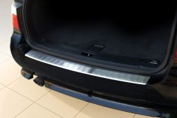 BMW 5 Series Touring (E61) 2003-2010 rear bumper protector stainless steel (BMW35SBP) (1)