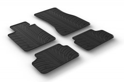 BMW 5 Series (G30) 2017-present 4-door saloon car mats set anti-slip Rubbasol rubber (BMW35SFR)
