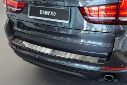 BMW X5 (F15) 2013-> rear bumper protector stainless steel (BMW4X5BP) (1)