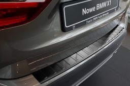 BMW X1 (E84) 2012-2015 rear bumper protector stainless steel black (BMW8X1BP) (2)