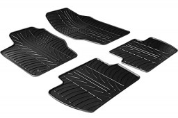 Citroën C4 (L) 2004-2010 3 & 5-door hatchback car mats set anti-slip Rubbasol rubber (CIT1C4FR)