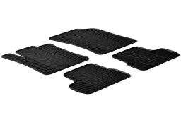 Citroën DS3 2009-present 3-door hatchback car mats set anti-slip Rubbasol rubber (CIT1D3FR)