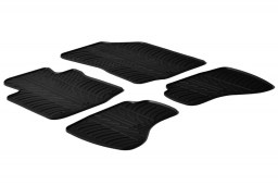 Citroën C1 I 2009-2014 3 & 5-door hatchback car mats set anti-slip Rubbasol rubber (CIT2C1FR)