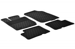 Dacia Duster 2010-2014 car mats set anti-slip Rubbasol rubber (DAC1DUFR)