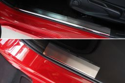 Example interior door sill plate stainless steel + carbon foil - 4 pieces (EA)