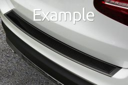 Example rear bumper protector stainless steel black
