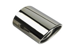 Exhaust trim stainless steel oval
