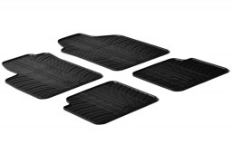Fiat 500 2007-2013 3-door hatchback car mats set anti-slip Rubbasol rubber (FIA150FR)