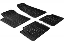 Fiat Bravo II 2007-2014 5-door hatchback car mats set anti-slip Rubbasol rubber (FIA1BRFR)