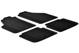 Fiat Idea 2007-2012 car mats set anti-slip Rubbasol rubber (FIA1IDFR)